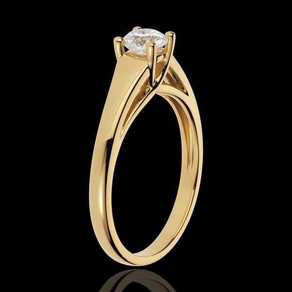 Yellow Gold Diadème Solitaire Ring