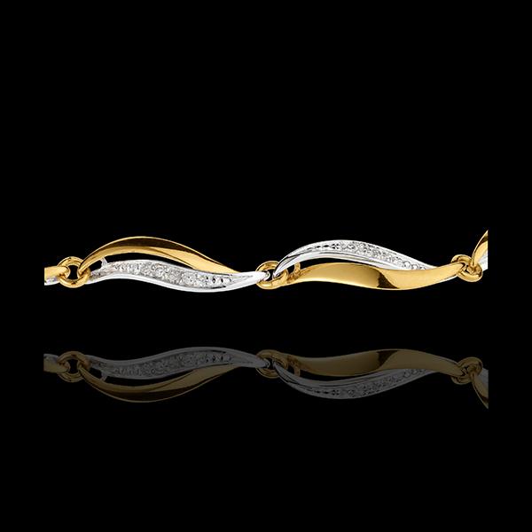 Yellow Gold Twist Bracelet - 22 Diamonds