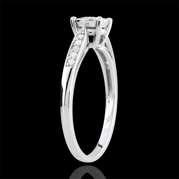 Zarter Ring in Weißgold Diamantsphäre - umrandet - 0.12 Carat
