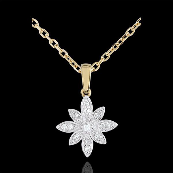 Zawieszka Gwiezdny Kwiat - złoto białe i złoto żółte 9-karatowe