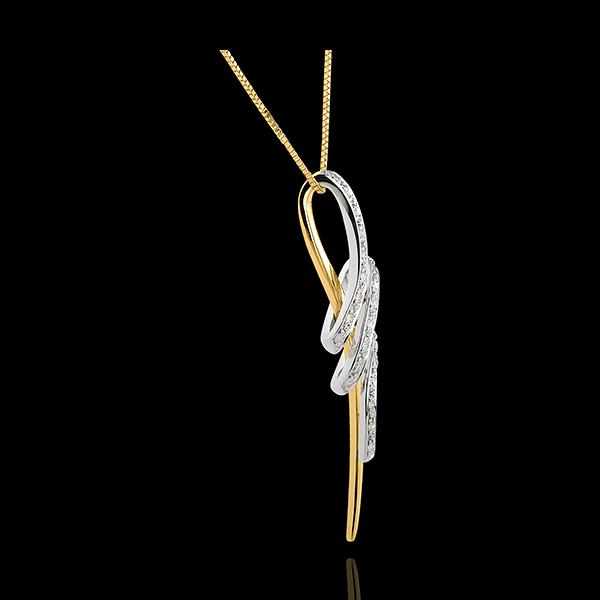 Zawieszka w kształcie węzła Wąż - złoto białe i złoto żółte 18-karatowe