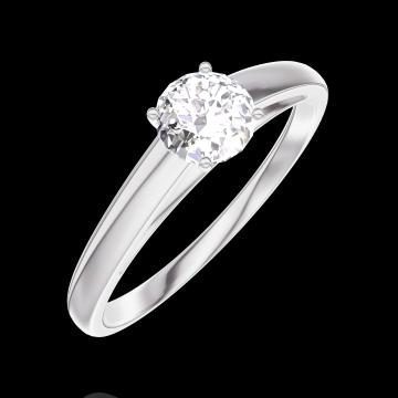 Ring Create Engagement 160003 Wit goud 18 karaat - Diamant Rond 0.3 Karaat