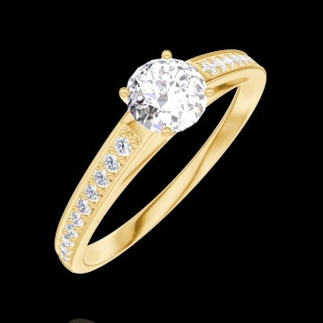 Anello Create Engagement 160005 Oro giallo 18 carati - Diamante Rotondo 0.3 Carati - Incastonatura Diamante