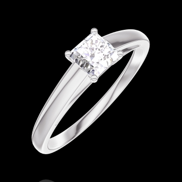Ring Create Engagement 160103 Wit goud 18 karaat - Diamant Prinses 0.3 Karaat