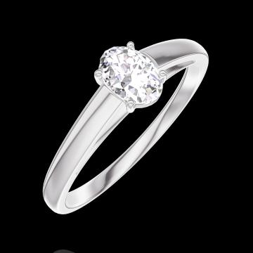 Bague Create 160303 Or blanc 18 carats - Diamant Ovale 0.3 carat