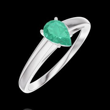 Ring Create 162204 Weißgold 375/-(9Kt) - Smaragd Tropfen 0.3 Karat