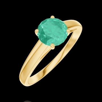 Ring Create 166601 Gelbgold 750/-(18Kt) - Smaragd Rund 0.7 Karat