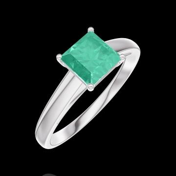 Ring Create 166703 Weißgold 750/-(18Kt) - Smaragd Prinzess 0.7 Karat