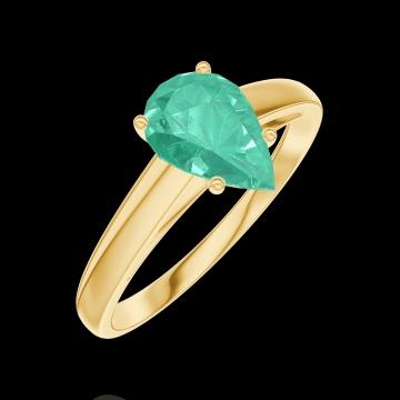 Ring Create 167001 Gelbgold 750/-(18Kt) - Smaragd Tropfen 0.7 Karat