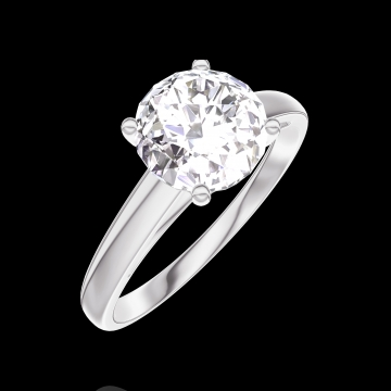 Ring Create Engagement 167203 Wit goud 18 karaat - Diamant Rond 1 Karaat