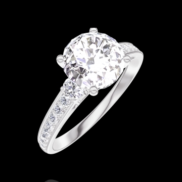Ring Create 167227 White gold 18 carats - Diamond white Round 1 Carats - Ring settings Diamond white - Setting Diamond white