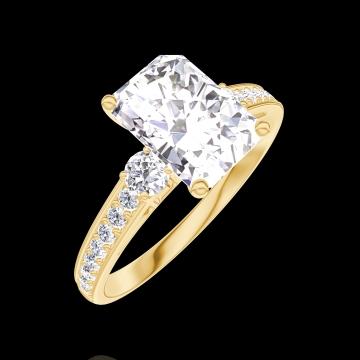 bague diamant rectangle
