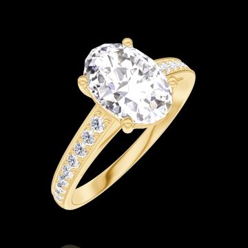 Anillo Create 167505 Oro amarillo 18 quilates - Diamante Ovalo 1 quilates - Engastado Diamante