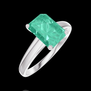 Ring Create 169204 White gold 9 carats - Emerald Baguette 1 Carats