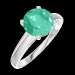 Anello Create 169004 Oro bianco 9 carati - Smeraldo rotondo 1 Carati