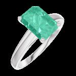 Anello Create 169204 Oro bianco 9 carati - Smeraldo Rettangolo 1 Carati