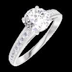 Anillo Create Engagement 164807 Oro blanco 18 quilates - Diamante natural Redonda 0.7 quilates - Engastado Diamante natural