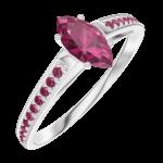 Create Engagement Ring 161112 Weißgold 375/-(9Kt) - Rubin Marquise 0.3 Karat - Fassung Rubin