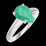 Ring Create 169404 Weißgold 375/-(9Kt) - Smaragd Tropfen 1 Karat