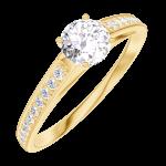 Ring Create Engagement 160005 Geel goud 18 karaat - Natuurlijke diamant Rond 0.3 Karaat - Setting Natuurlijke diamant
