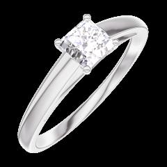 Anello Create Engagement 160103 Oro bianco 18 carati - Diamante Principessa 0.3 Carati