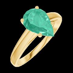 Anillo Create Engagement 169401 Oro amarillo 18 quilates - Esmeralda Pera 1 quilates