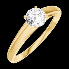 Bague Create Engagement 160001 Or jaune 18 carats - Diamant Rond 0.3 carat