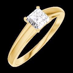 Bague Create Engagement 160101 Or jaune 18 carats - Diamant Princesse 0.3 carat