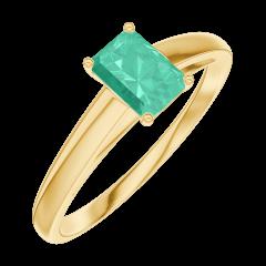 Bague Create Engagement 162002 Or jaune 9 carats - Émeraude Rectangle 0.3 carat