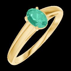 Bague Create Engagement 162102 Or jaune 9 carats - Émeraude Ovale 0.3 carat