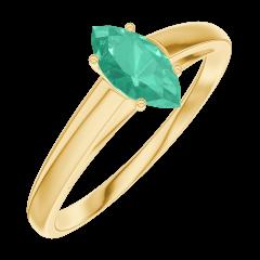 Bague Create Engagement 162302 Or jaune 9 carats - Émeraude Marquise 0.3 carat