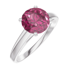 Bague Create Engagement 167804 Or blanc 9 carats - Rubis Rond 1 carat