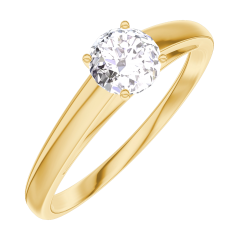 Create Engagement Ring 160001 Yellow gold 18 carats - Diamond white Round 0.3 Carats