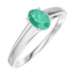 Ring Create 162104 Weißgold 375/-(9Kt) - Smaragd Oval 0.3 Karat