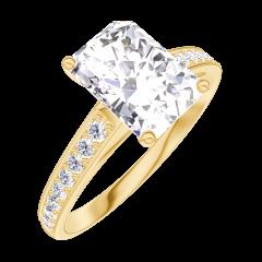 Ring Create 167405 Geelgoud 18 karaat - Diamant Rechthoekig 1 Karaat - Setting Diamant