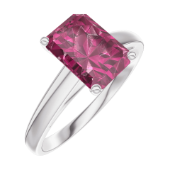 Ring Create 168004 Weißgold 375/-(9Kt) - Rubin Rechteckig 1 Karat