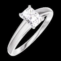 Ring Create 180204 Weißgold 375/-(9Kt) - Labordiamant Rechteckig 0.3 Karat