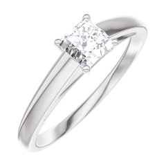 Ring Create Engagement 160103 Wit goud 18 karaat - Diamant Prinses 0.3 Karaat