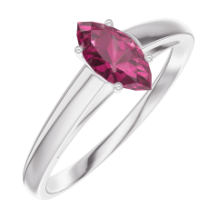 Ring Create Engagement 161104 Wit goud 9 karaat - Robijn Markies 0.3 Karaat