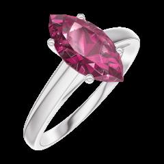 Ring Create Engagement 168304 Wit goud 9 karaat - Robijn Markies 1 Karaat