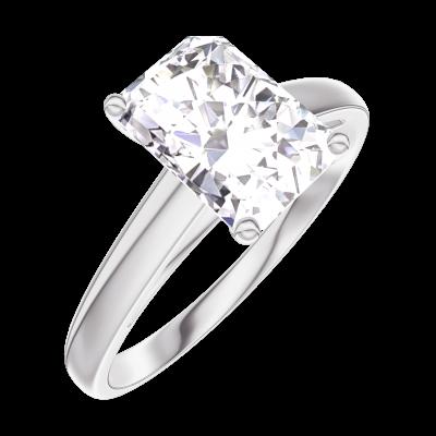 bague or blanc diamant rectangle