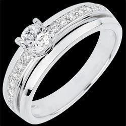 <a href=https://www.edenly.com/bijoux/bague-solitaire-ma-reine,3058.html><span class='nom-prod-slide'>Bague de Fiançailles Solitaire Destinée - Ma Reine - grand modèle - or blanc 18 carats - diamant 0.33 carat</span><br><span class='prixf'>1490 &#x20AC;</span> (-50%) </a>