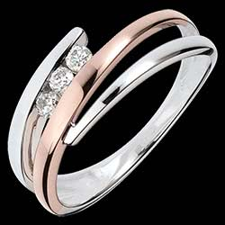 <a href=https://en.edenly.com/jewels/pink-and-white-gold-delphea-trilogy-ring,1097.html><span class='nom-prod-slide'>Engagement Ring Precious Nest - Triple diamonds - pink gold. white gold - 3 diamonds - 18 carats</span><br><span class='prixf'>£ 519</span> (-36%) </a>