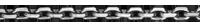 Chaîne Forçat or blanc moyenne - 45 cm - 9 carats