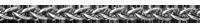 Chaîne maille Palmier or blanc - 42 cm