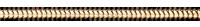 Chaîne Serpent or jaune - 42 cm