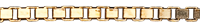 Chaîne Vénitienne or jaune moyenne - 42 cm