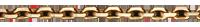 Chaîne Forçat or jaune large - 42 cm
