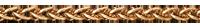 Chaîne maille Palmier or jaune - 42 cm