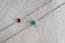 Bracelet Create 200484 Or blanc 9 carats - Rubis Ovale 0.3 carat - Chaîne FORCAT